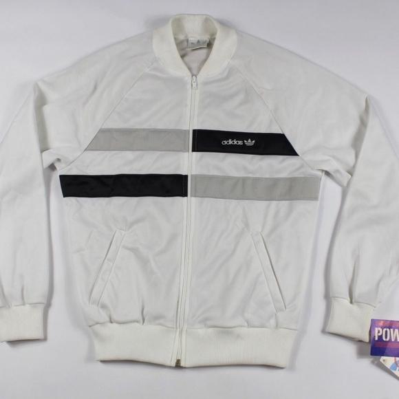 Vintage New 80s Adidas Run DMC Track Jacket Small NWT